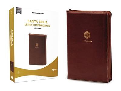 Picture of Rvr60 Santa Biblia Letra Supergigante, Leathersoft, Café C/Cierre