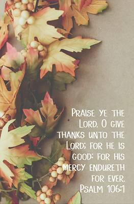 Picture of Praise Ye the Lord Bulletin (Pkg 100) Thanksgiving