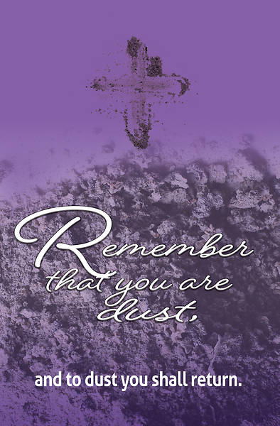 Remember Ash Wednesday Bulletin (Pkg of 50)