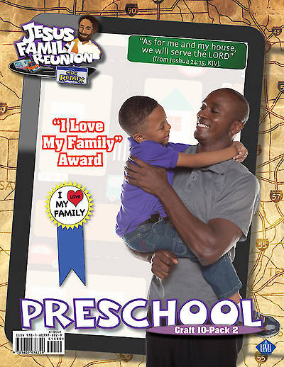 UMI VBS 2014 The Jesus Connection : I Love My Family Award Craft Kit 10 pkg