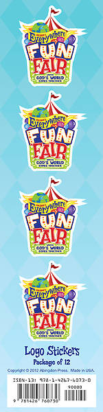 Vacation Bible School 2013 Everywhere Fun Fair Logo Stickers (Pk of 12) VBS