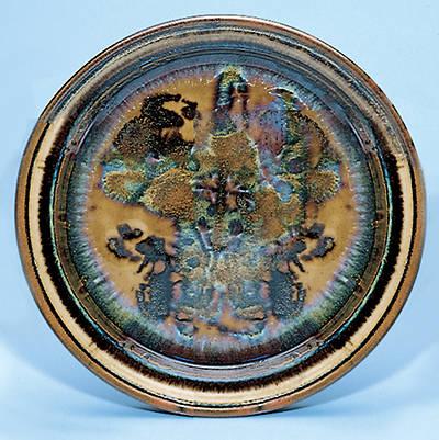 Picture of Earthenware Bread Plate, Dark Blue