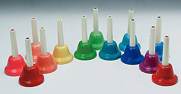 Complete 13 Note Chromatic Handbell Set