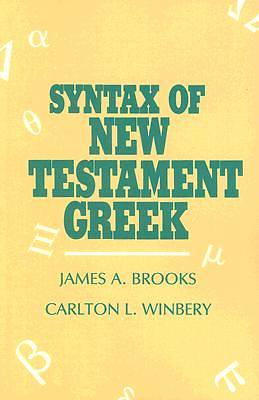 Picture of Syntax Of New Testament Greek