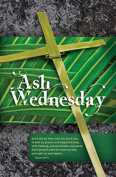 Ash Wednesday Bulletin Daniel 9:3-4, Regular Size Pack of 100