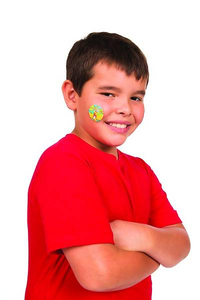 Vacation Bible School 2013 Everywhere Fun Fair Pkg 12 Neighbor Face Stickers VBS