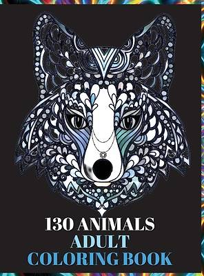 Picture of 130 Animals Adult Coloring Book