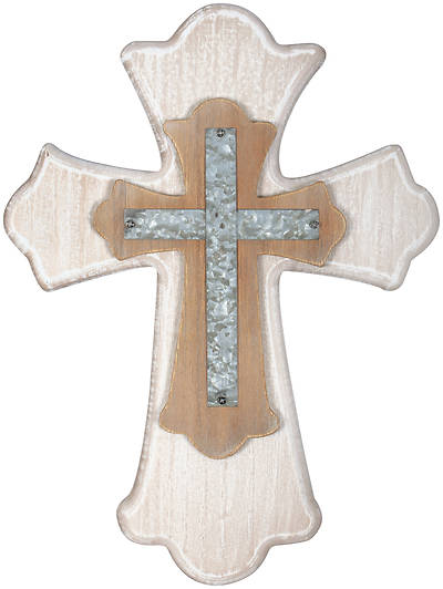 Picture of White Wash Wall Cross