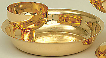 Picture of Intinction Communion Set Gold Plate