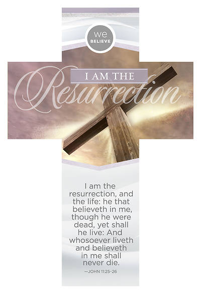 I Am the Resurrection Cross-Shaped Easter Bookmark
