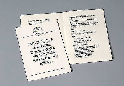 United Methodist Covenant III Baptism, Confirmation & Reception Certificate (Package of 3)