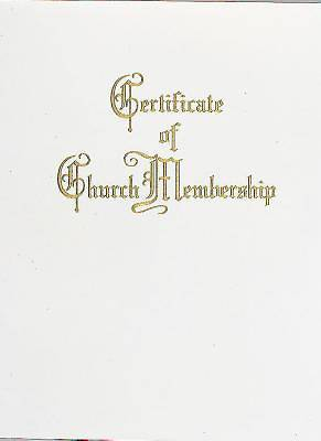 Traditional Steel-Engraved Church Membership Certificate (Pkg of 3)