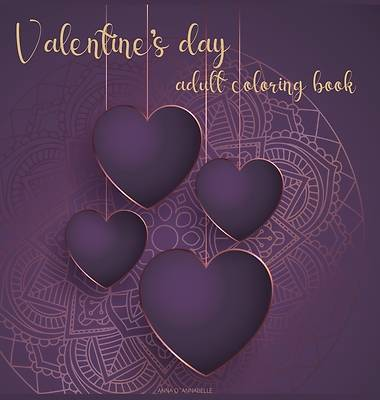 Picture of Valentine's day adult coloring book
