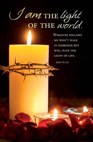 Picture of I Am the Light Tenebrae Bulletin (Pkg of 50)