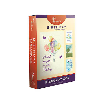Boxed Birthday Cards (Pack of 12) - Balloons