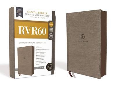 Picture of Rvr60 Santa Biblia Serie 50 Letra Grande, Tamaño Manual, Tapa Dura, Tela, Gris