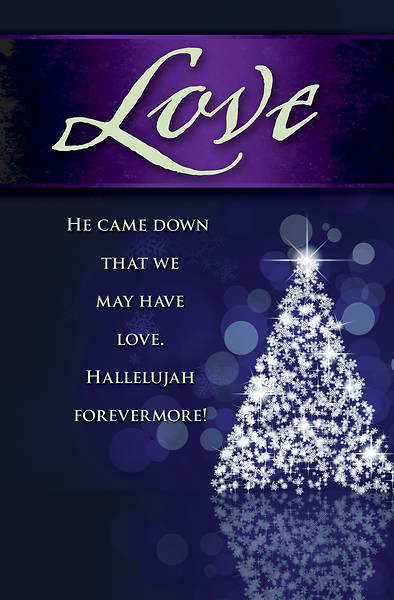 Picture of Love Tree Advent Bulletin (Pkg of 50)