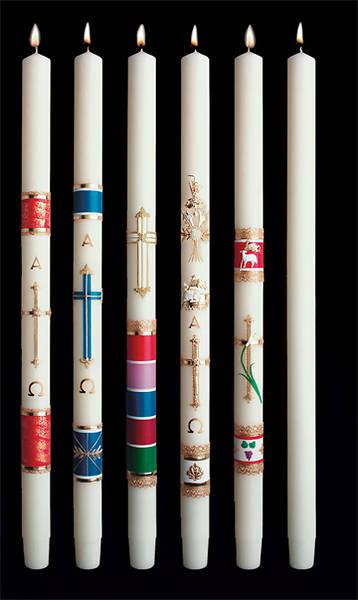 "Picture of Celebration Paschal Candle 36"" x 2"""
