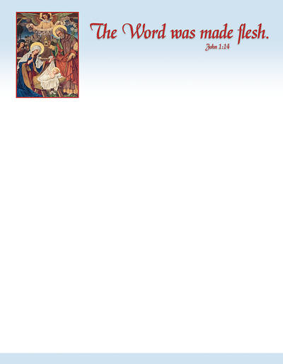 Picture of The Nativity Old Master Art Christmas Letterhead