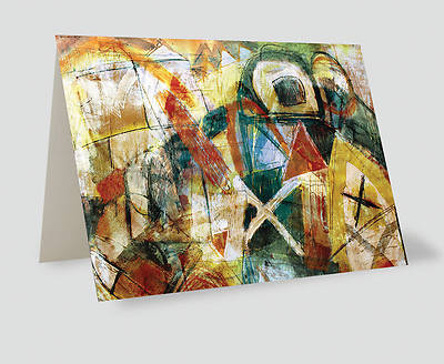 Absract Crosses Painting Greeting Cards