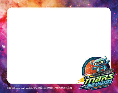 Picture of Vacation Bible School (VBS) To Mars and Beyond Nametag Cards (Pkg of 24)