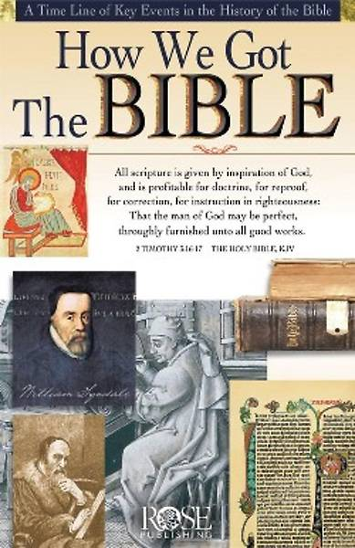 Picture of Wall Chart How We Got the Bible