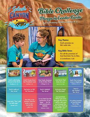 Vacation Bible School (VBS) 2018 Splash Canyon Bible Challenge Guide