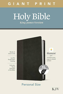 Picture of KJV Personal Size Giant Print Bible, Filament Enabled Edition (Leatherlike, Black/Onyx, Indexed)