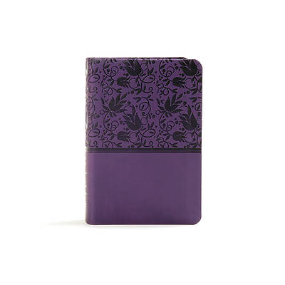 Picture of KJV Large Print Compact Reference Bible, Purple Leathertouch