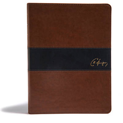 Picture of KJV Spurgeon Study Bible, Black/Brown Leathertouch
