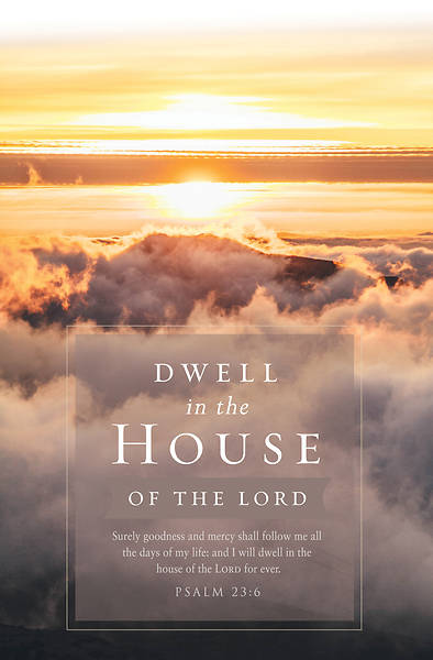 Dwell in the House Funeral Regular Size Bulletin