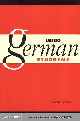 Using German Synonyms [Adobe Ebook]
