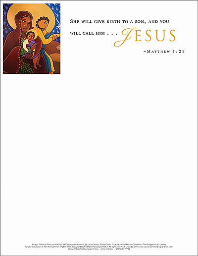 Jesus/Christmas Nativity Letterhead 2013 (Package of 50)
