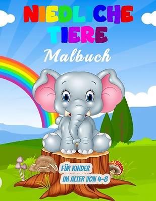 Picture of Niedliche Tiere Malbuch für Kinder im Alter von 4-8