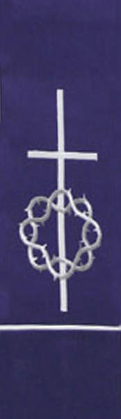 Crown of Thorns White on Purple Stole