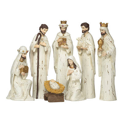 Picture of 7 Piece Rustic Look Resin Nativity