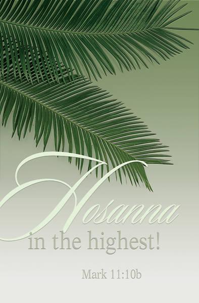 Picture of Hosanna Palm Sunday Bulletin (Pkg of 50)