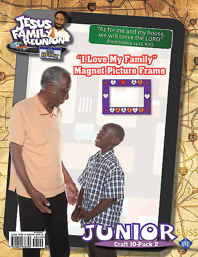 UMI VBS 2015 Jesus he True Superhero  I Love My Family Magnet Picture Frame Pkg 10