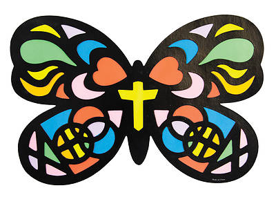 Picture of Vacation Bible School VBS 2021 God's Wonder Lab PK12 Stained Butterfly Craft