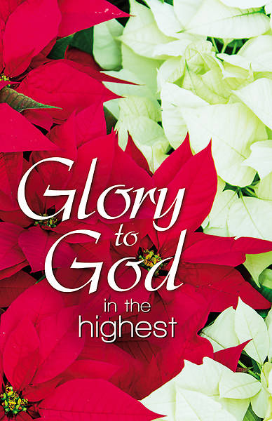 Picture of Glory to God Poinsettias Christmas Legal Size Bulletin