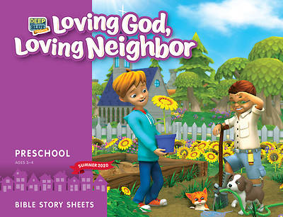 Picture of Deep Blue Connects Preschool Bible Story Sheets Summer 2020