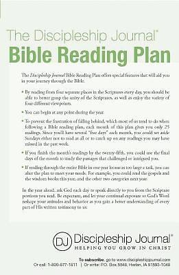 The Discipleship Journal Bible Reading Plan