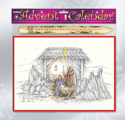 Nativity Advent Calendar with Advent Candle #CA797