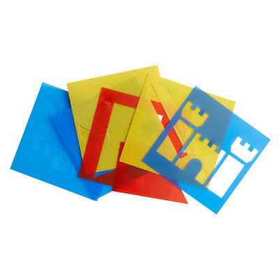 Picture of Vacation Bible School (VBS) 2020 Knights of North Castle Stencil Set (Pkg of 12)