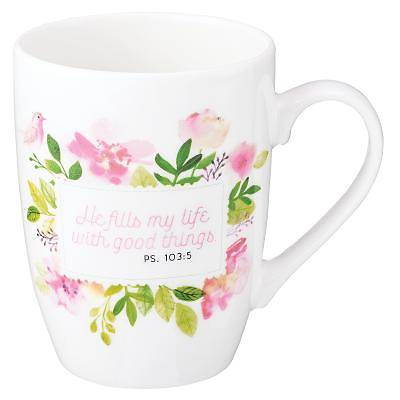 Picture of Value Mug He Fills My Life Floral