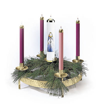 Contemporary Advent Wreath