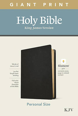 Picture of KJV Personal Size Giant Print Bible, Filament Enabled Edition (Genuine Leather, Black)
