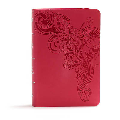 Picture of KJV Large Print Compact Reference Bible, Pink Leathertouch