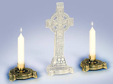 Candle Holders for Standing High Cross Pair