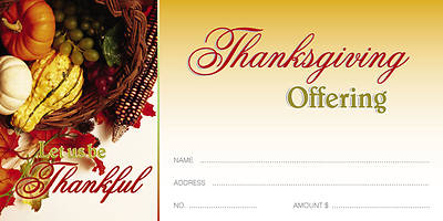 Thanksgiving/Worship God Offering Envelope (Package of 100)